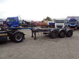 container chassis oplegger Renders Euro 800 + 3 Axle + Extendable 2001