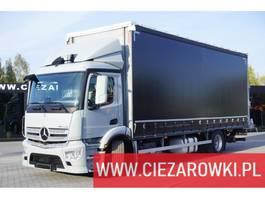 schuifzeil vrachtwagen Mercedes-Benz Antos 1830 , E6 , 4x2 , tarpulin + lift 1.500kg , 19 EPAL , Low 2017