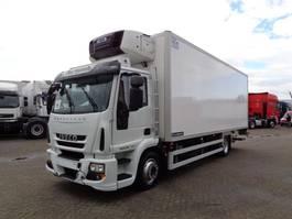 koelwagen vrachtwagen Iveco EuroCargo 120 120E22 + Euro 5 + Carrier Supra 850 Mt + Dhollandia Lift 2014
