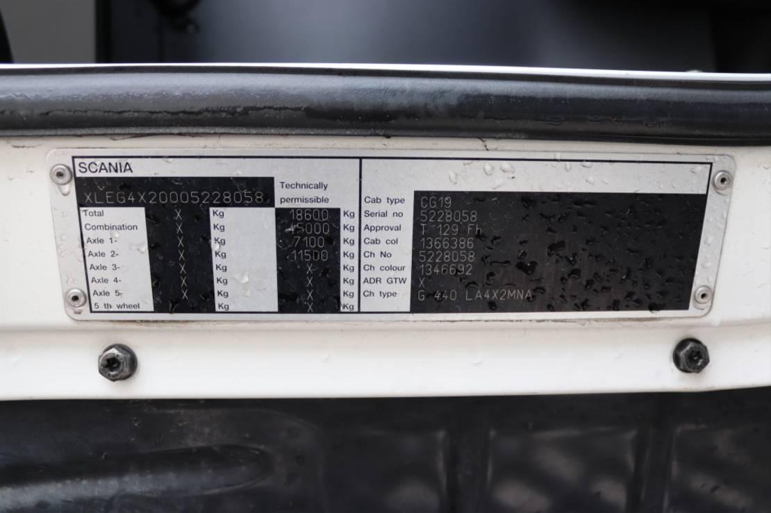 gevaarlijke stoffen trekker Scania G440  Euro5 Retarder ADR 2009