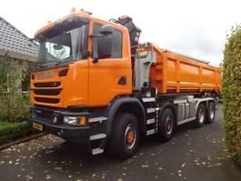 containersysteem vrachtwagen Scania G410 8X6 Haakarm Kraan 2017