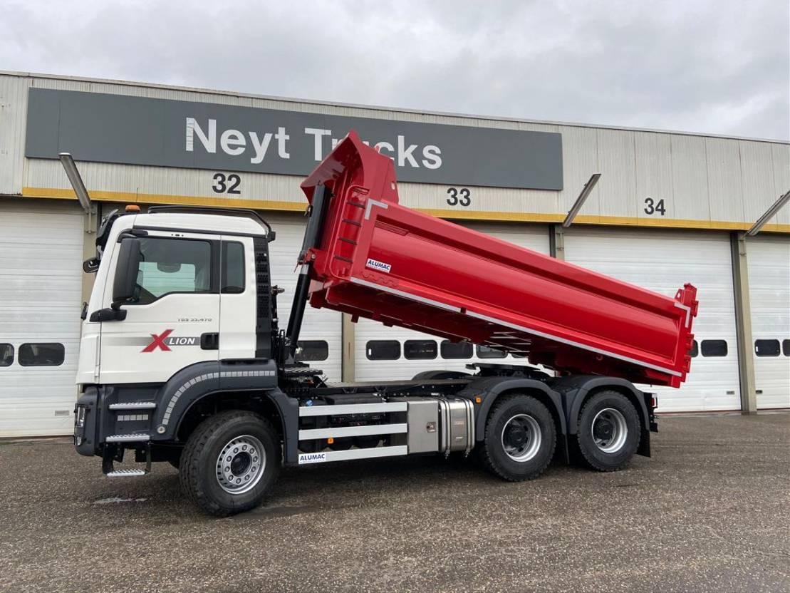 driezijdige kipper vrachtwagen MAN TGS 33.470 6x4 BL - Alumac - Dubbel gebruik