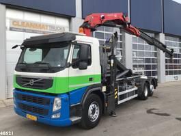 containersysteem vrachtwagen Volvo FM 370 HMF 22 ton/meter laadkraan 2012