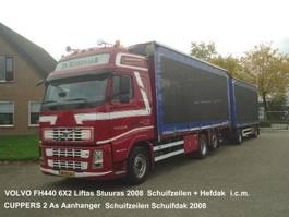 schuifzeil vrachtwagen Volvo FH440 6X2 FAL8.0 RADT-A8 MED  Kippentransport Schuifzeilen Hefdak 2008
