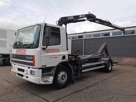 containersysteem vrachtwagen DAF CF 65 -180 4x2 Euro1 Dagcabine - HIAB 100 + LEEBUR HAAKARM - 04/2021 APK 1996