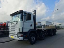 open laadbak vrachtwagen Scania 124 L 470 8X4 / MANUAL GEARBOX / STEELSUSPENSION !! 2003
