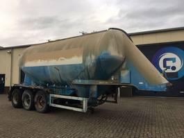 silo oplegger Feldbinder EUT 38.3 3-assige SILO trailer ( CEMENT ) 1980