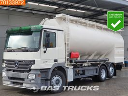 silo vrachtwagen Mercedes-Benz Actros 2536 L 6X2 Retarder Lift+Lenkachse 3-Pedals Compressor Euro 3 2005
