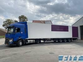 koel-vries oplegger Schmitz Cargobull 3 ass ISO oplegger met 2T klep ICM Renault 2014 T380 mega trekker 2015