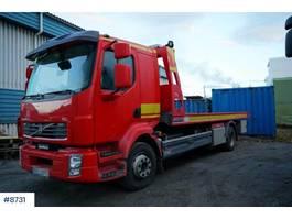 takelwagen-bergingswagen-vrachtwagen Volvo FL240 Omars flatbed truck 2013