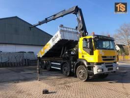 containersysteem vrachtwagen Iveco Trakker 340 AD340T41 8X4 - HIAB 288 CRANE/KRAN REMOTE - BELGIUM TRUCK - TOP! 2008
