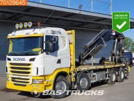 platform vrachtwagen Scania G480 8X4 Kran Crane Hiab 700 EP-4 Euro 5 3-Pedals Retarder 2012