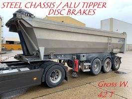 kipper oplegger Lecitrailer ULTRA LIGHT 3-AXLES ROR - STEEL CHASSIS / ALU TIPPER - STAAL CHASSIS / A... 2008
