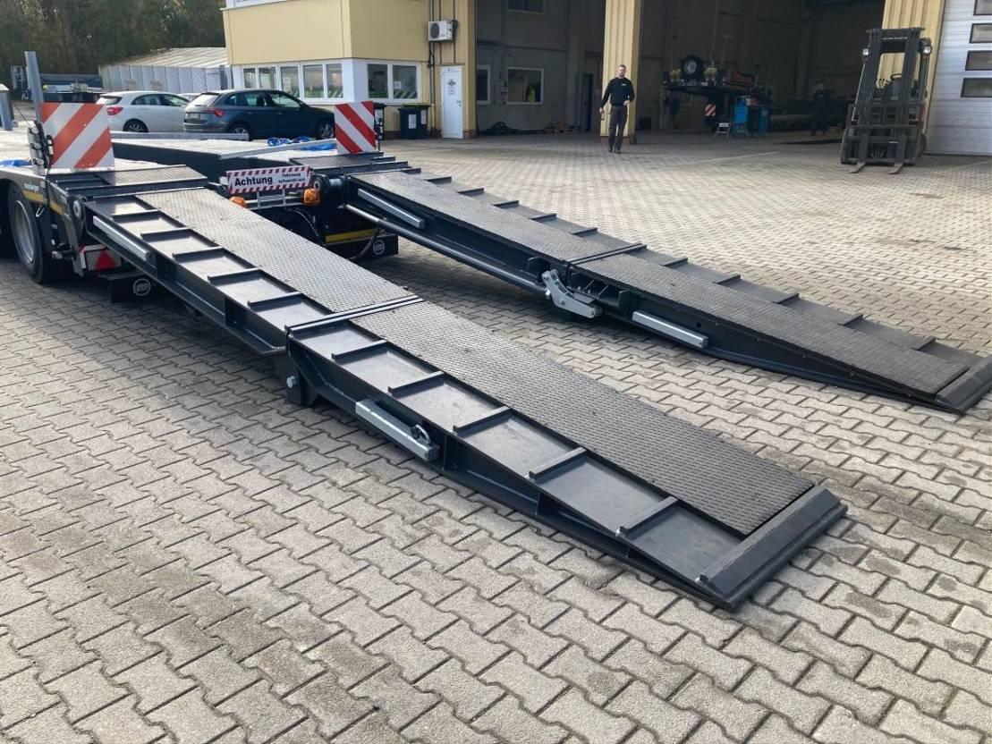 semi dieplader oplegger Meusburger 5-Achs-Tele-Semi mit Halbachsen, hydr. Rampen 2020