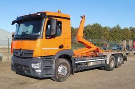containersysteem vrachtwagen Mercedes-Benz 2746 L - 6x2/4 - ANTOS - 81.561 Km - EURO 6 - VOITH RETARDER - MEILLER HAAK