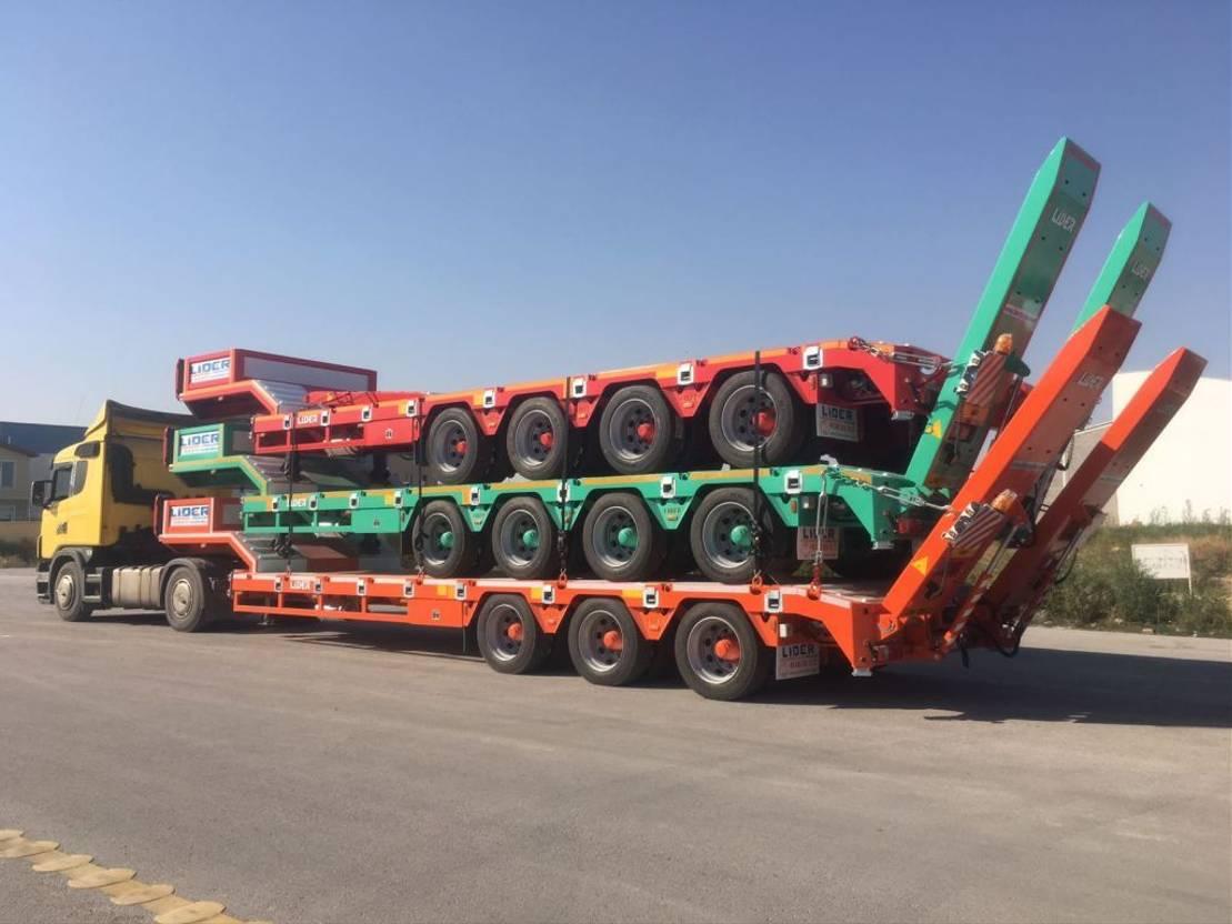 semi dieplader oplegger Lider Lowbed semi trailer 2021