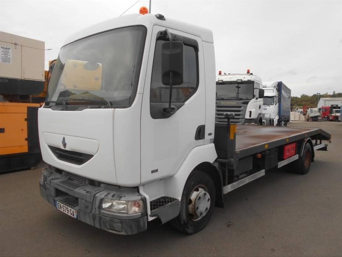 autotransporter vrachtwagen Renault Midlum 2001