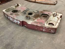 overige equipment onderdeel Krupp KMK 3045 counterweight 3.4 t