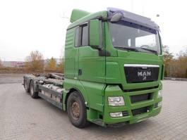 containersysteem vrachtwagen MAN TGX 26.440 EEV 6X2 AbrollKipper, HYVALIFT 2009