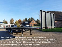 platte oplegger Lintrailers 3 LPO 18-27 3 As Open Zware UNP kantbalken met Rongpotten ook dwar in de vloer 2020