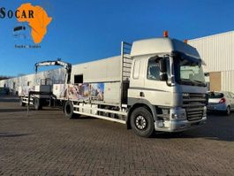 camion à ridelles DAF CF 85.360 (with Hiab XS 099 crane B2 duo) + Happy trailer 2008