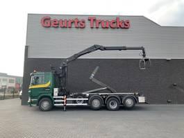containersysteem vrachtwagen Scania G 440 8X2 HAAKARMSYTEEM+ PALFINGER EPSILON Z KRAAN 2012