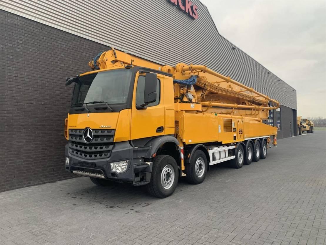 betonpomp vrachtwagen Mercedes-Benz Arocs 6051 12X4 WITH SERMAC 6 RZ 65 METER PUMP 2014