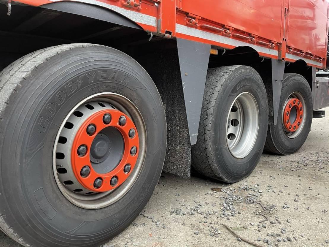 open laadbak vrachtwagen DAF CF 85.410 - 8x2 TRIDEM + HIAB 377 EP-4 (KRAN 37Tm) - RADIO - ROTATOR - PLATFORM 7m - LIFT + STEERING AXLES - AS TRONIC - EURO 5 - TUV 05/2021 2013