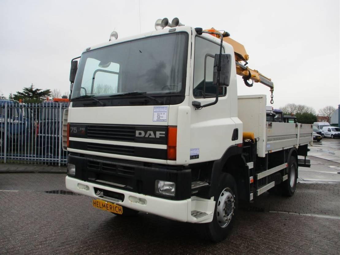 open laadbak vrachtwagen DAF 75 240 ATI 1995