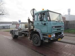 containersysteem vrachtwagen DAF 1900 Turbo  Hook / Crane 1991