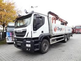 kraanwagen Iveco Stralis 460 6X2 Atlas 140 Baustoffkran 2014