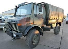 huifzeil vrachtwagen Unimog U 1300 L 435 4X4 2t Werkstatt-Einrichtung PRITSC 1985