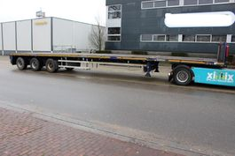 platte oplegger Goldhofer Vlakke dubbel (2x) uitschuifbare oplegger // 3x gestuurd 2008