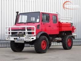 brandweerwagen vrachtwagen Unimog U 1550 L 4x4 Unimog U1550 L (437) Mercedes Benz, Doppelkabine, SIDES CCF... 1991