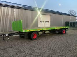 platte aanhanger vrachtwagen Krone 7m10
