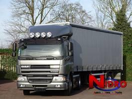 schuifzeil vrachtwagen DAF CF75 EURO 5 AIRCO CC TREKKER OPLEGGER 2007