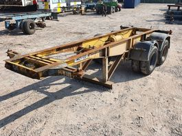 container chassis oplegger Pacton 20FT - Steelspring - Lames 1973