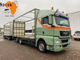 open laadbak vrachtwagen MAN TGX 26.440 6X2 + TRIAS 512-200 4+4 Aanhanger -> bj 2012 !!!COMBINATIE!! 2010
