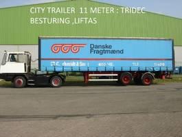 schuifzeil oplegger HRD Krone HRD 2 ass citytrailer , 11 mtr , TRIDEC sturing , 2500 kg laadklep