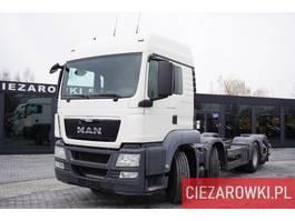 chassis cabine vrachtwagen MAN TGS 35.400 , 8x2 , PTO , chassis 6,7m , retarder , sleep cab 2014