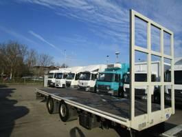 platte aanhanger vrachtwagen Dinkel 2-Achs Tandem PLATEAU 7,50 m untergekuppelt 2016