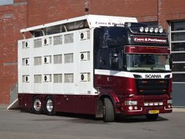 veewagen vrachtwagen Scania R520 LB6x2*4MNB 3 Stock livestock - NEW TUV/APK 2013