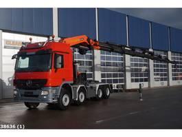 standaard trekker Mercedes-Benz Actros 4160 V8 8x4 Palfinger 100 ton/meter laadkraan 2012