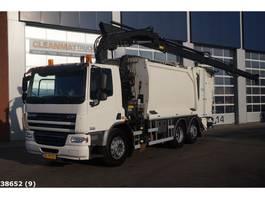 vuilkar camion DAF CF 250 FAN 75 Hiab 21 ton/meter laadkraan 2010