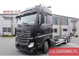 chassis cabine vrachtwagen Mercedes-Benz Actros 2542 ,E6 , 6x2 , BDF , GIGA cab , chassis 7,6m , retarder 2018