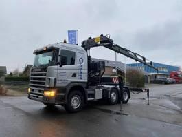 standaard trekker Scania 124 420 MANUAL HIAB 330-5 2000