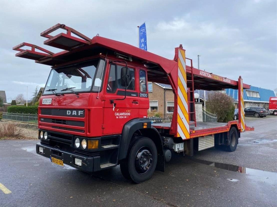 autotransporter vrachtwagen DAF 2100 MANUAL STEEL SUSPENSION HOLLAND TRUCK 1987