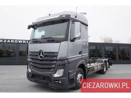 containersysteem vrachtwagen Mercedes-Benz Actros 2545 , E6 , 6x2 , BDF , chassis 7m , Giga cab , retarder 2017