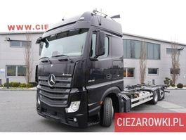 containersysteem vrachtwagen Mercedes-Benz Actros 2542 ,E6 , 6x2 , MEGA , BDF , GIGA cab , chassis 7,6m , 2018