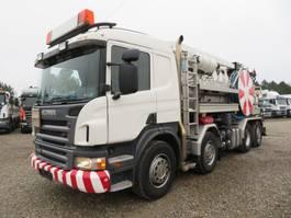 kolkenzuiger vrachtwagen Scania P420 8x2*6 11.000 l. ADR Hvidtved Larsen 2006